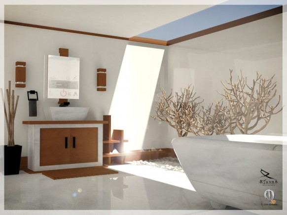 Bathroom Interior Design - Kitchen Layout and Decorating Ideas