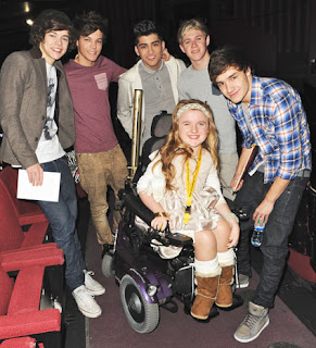 One Direction meeting kids from Ray of Sunshine