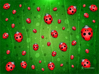 ladybug background - fundos com joaninhas