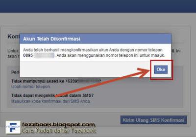 daftar facebook dengan nomer hp