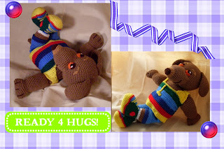 laid back and funny little Amigurumi Dachshund