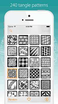Tangle Patterns Galore App
