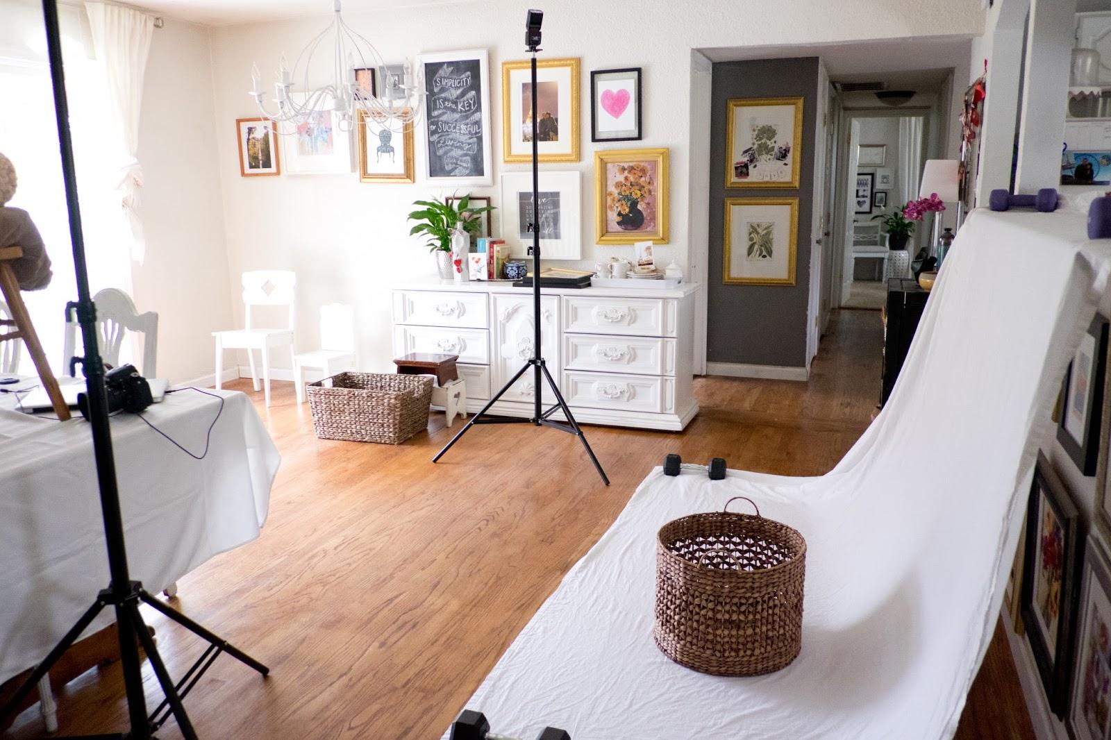 Domestic Fashionista DIY In Home Photo Studio Set Up