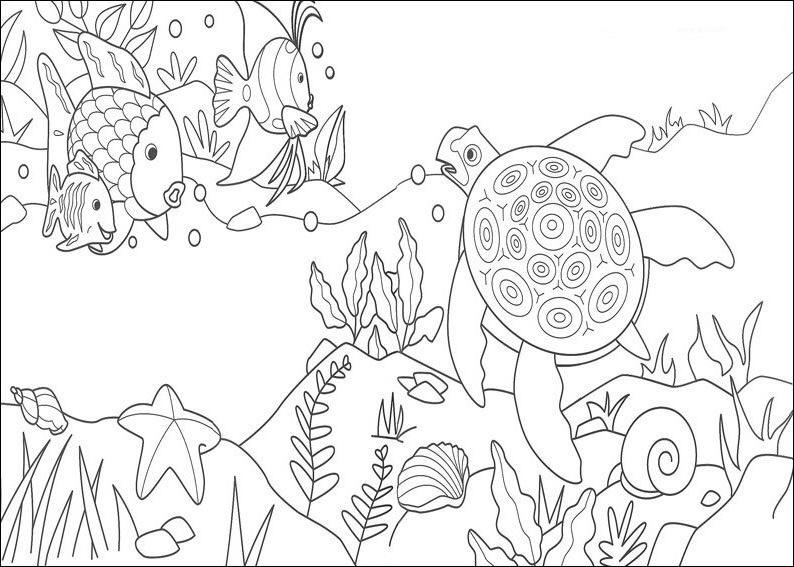 ocean bottom coloring pages - photo #4