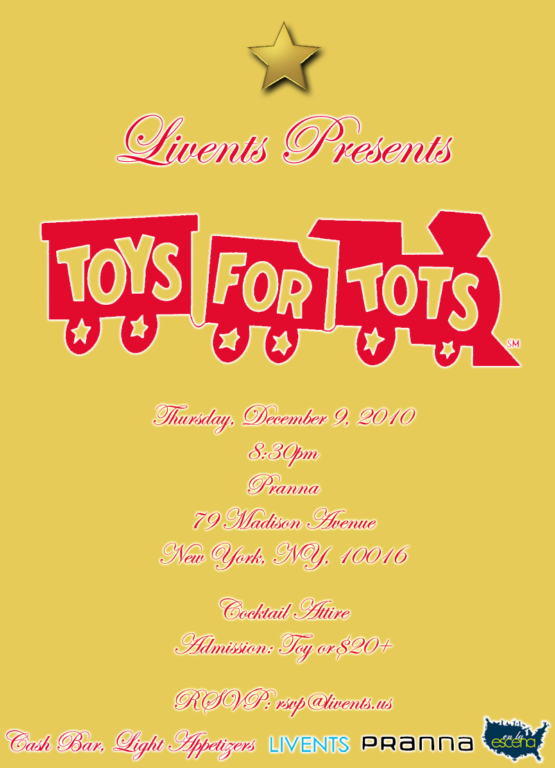 Sample Letters Toys For Tots : Livents save the date toys for tots benefit