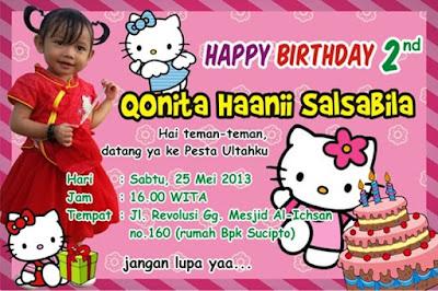 Contoh kartu undangan ulang tahun anak gratis