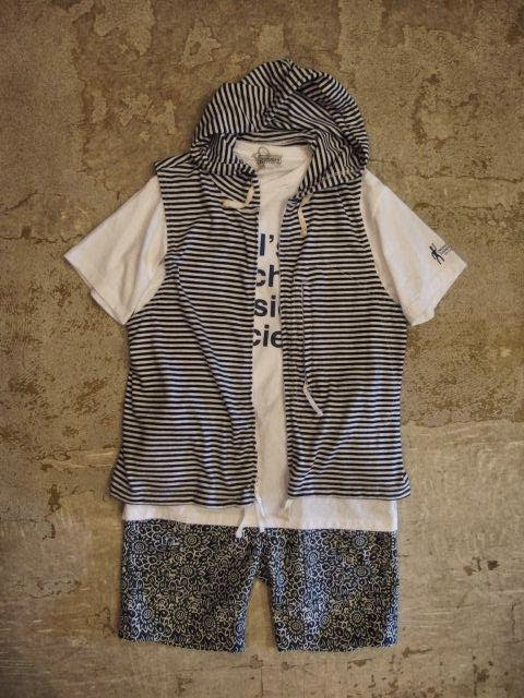 Engineered Garments Knit Hoody Vest Cotton Stripe Jersey Spring/Summer 2014 SUNRISE MARKET