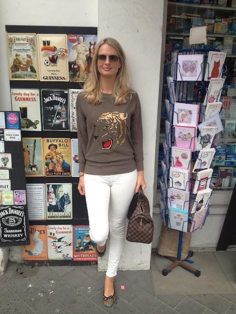 fashion sweater, tiger head jumper, street style, chrissabella blog