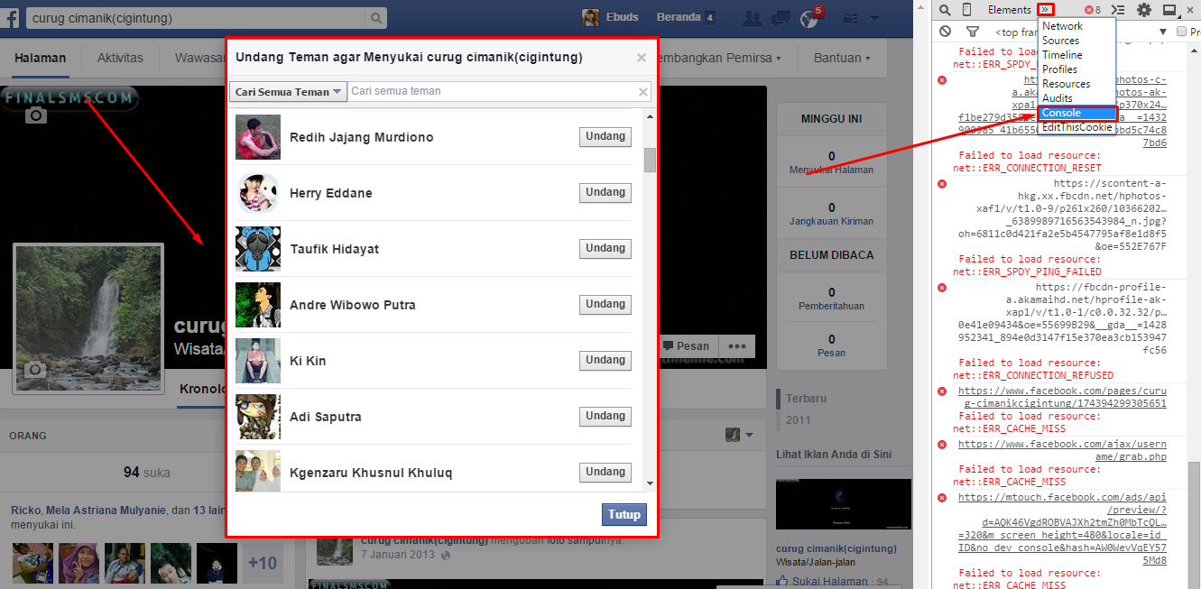 Auto Invite Fanpage/Halaman Facebook Terbaru 2015 Work - Trends7Media