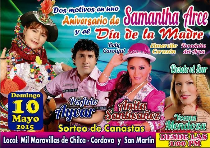 ANIVERSARIO de Samantha Arce en Huancayo