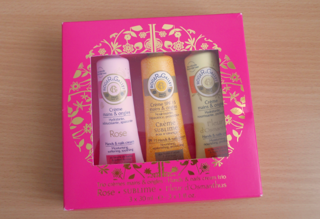 Roger and gallet hand and nail cream trio