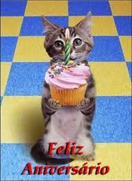 Gatinho Feliz Aniversário