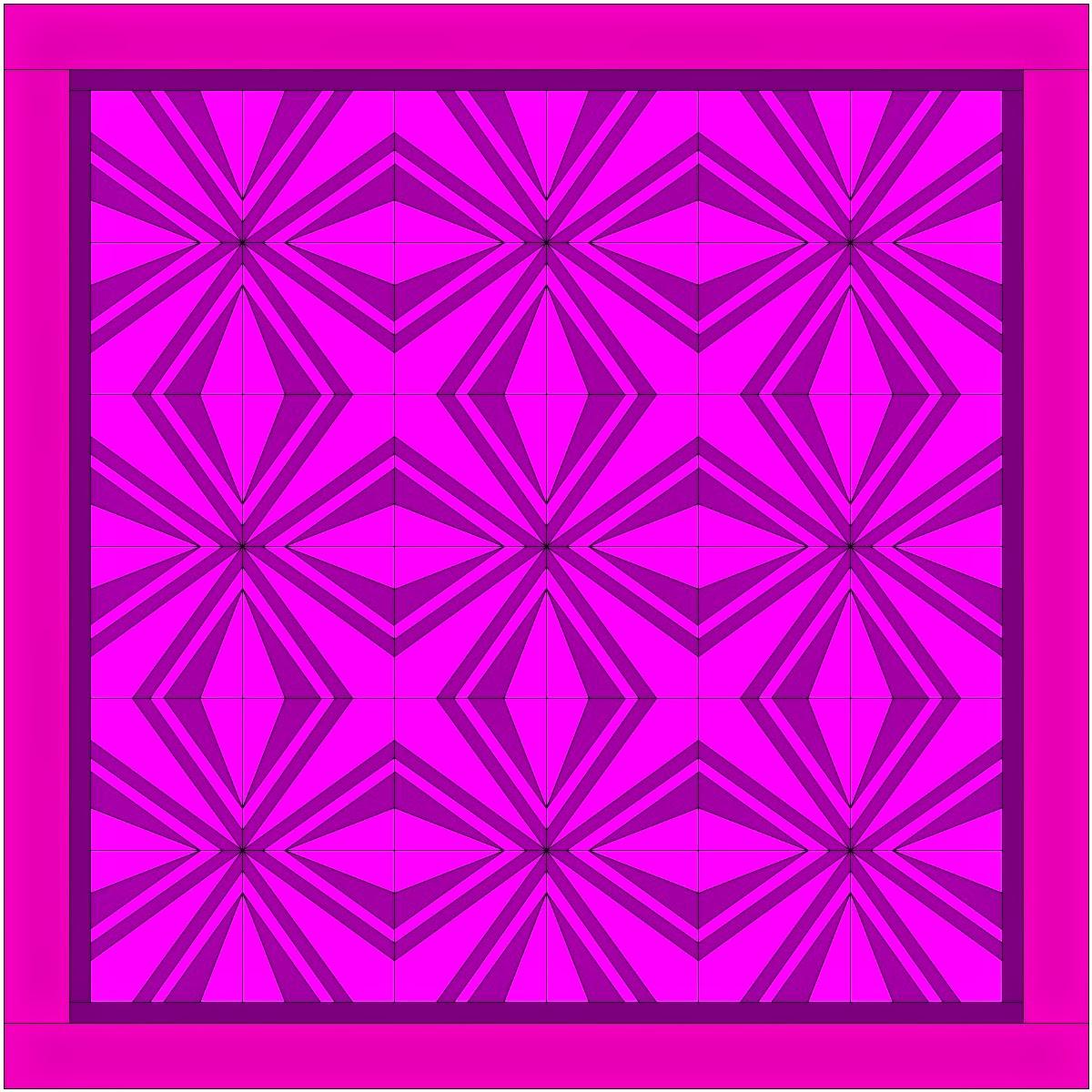Adventurous Quilter: Two Color quilt pattern design