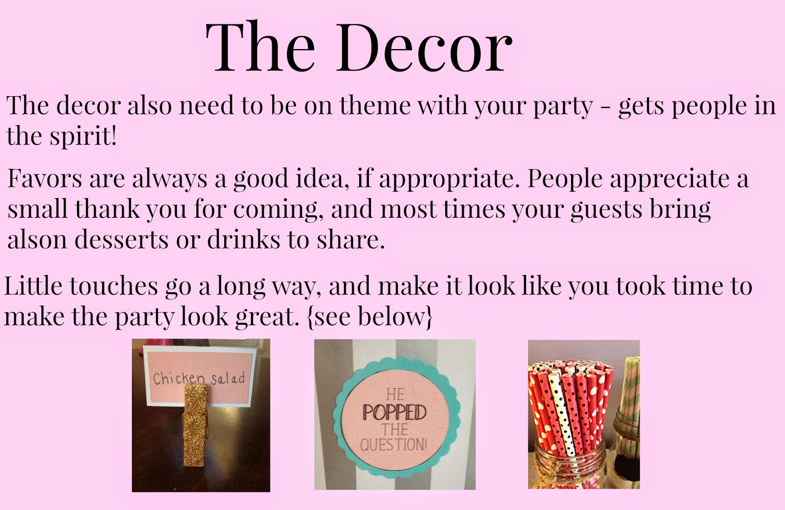 6 Tips to Throwing a Successful Party - decor