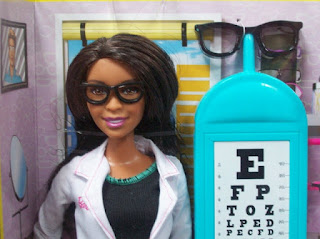 Barbie Eye Doctor, Black version, close up