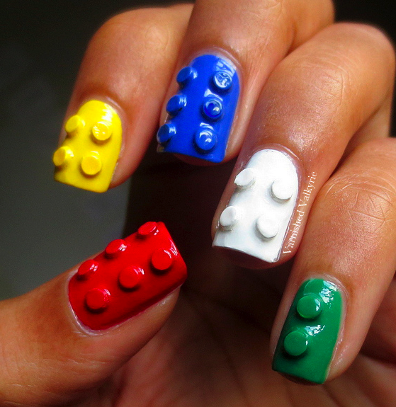 varnished valkyrie 3d lego nails