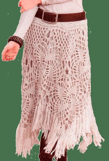 Вязаные ажурные летние юбки