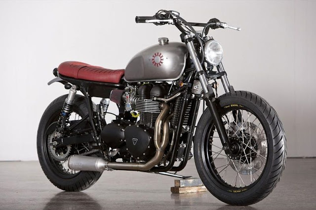 Custom Triumph Bonneville | Kiddo Motors | Custom Triumph Bonneville for sale | Custom Triumph Bonneville seats | Custom Triumph Bonneville t100 | Custom Triumph Bonneville parts | Custom Triumph Bonneville accessories | Custom Triumph Bonneville photo | Triumph Bonneville custom paint