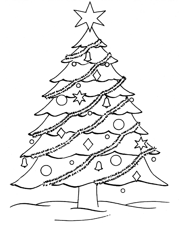Free Coloring Pages Christmas Tree Coloring Pages Big Tree Coloring Page
