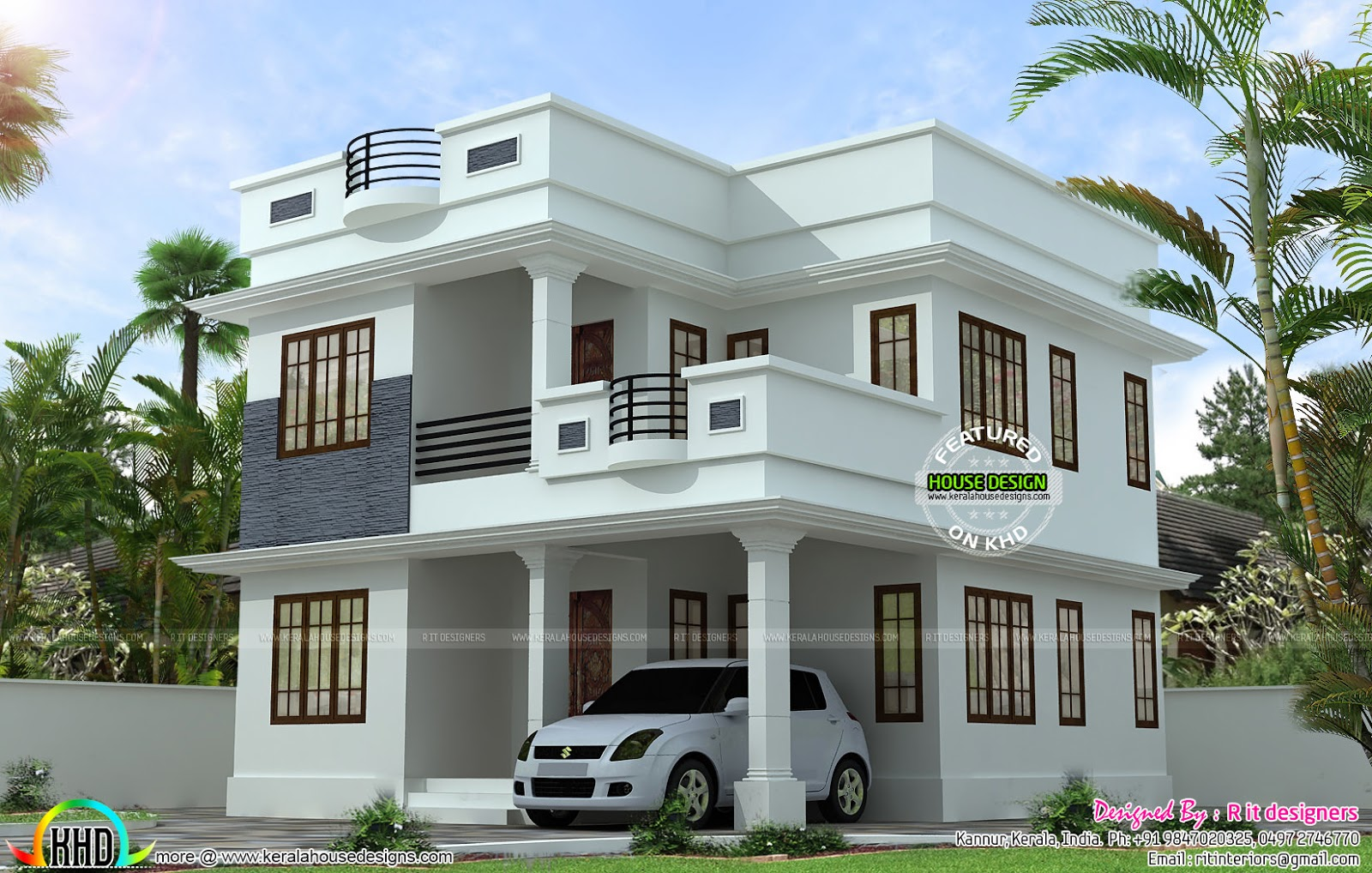 Neat and simple small house plan kerala home design and - Small house simple design ...
