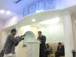 """Lançamento:Gravação do dvd""""Sangue e Azeite""""na sede da Igreja o Brasil para Cristo."""