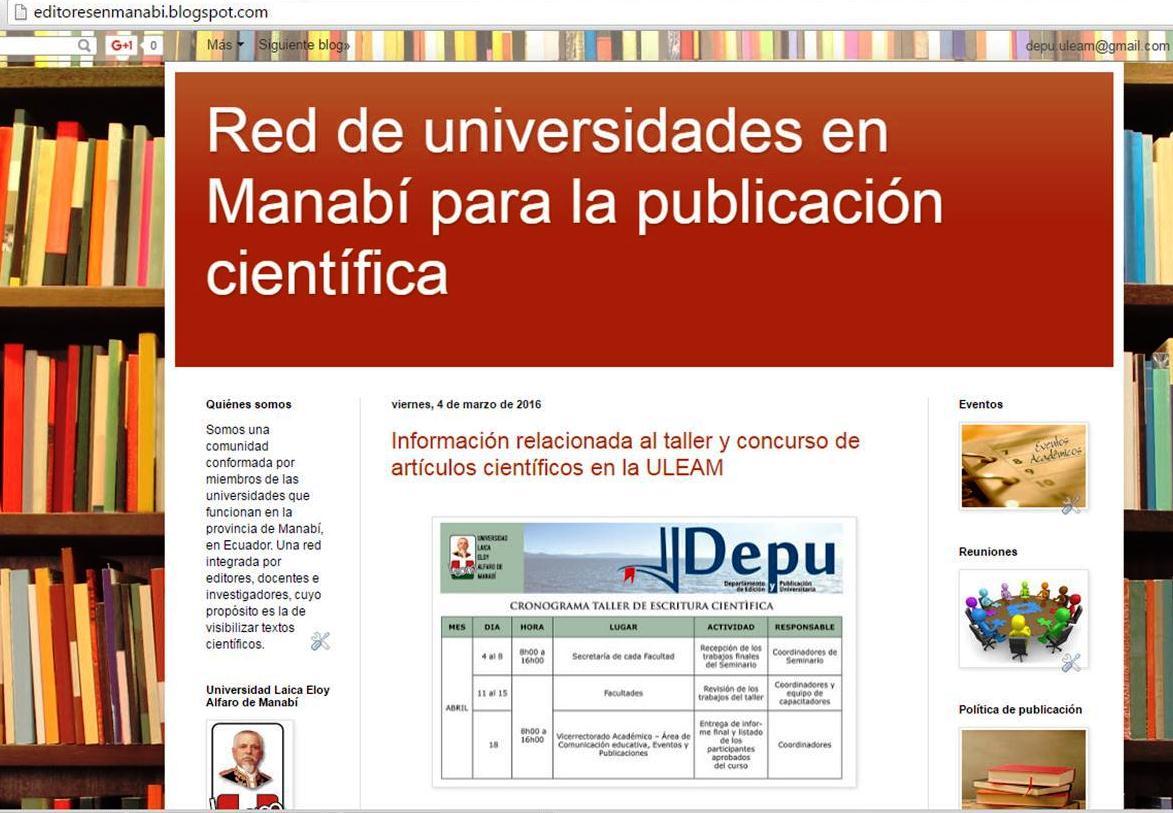 Red de universidades en Manabí para la publicación científica