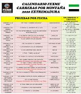 CIRCUITO CARRERAS POR MONTAÑA 2020