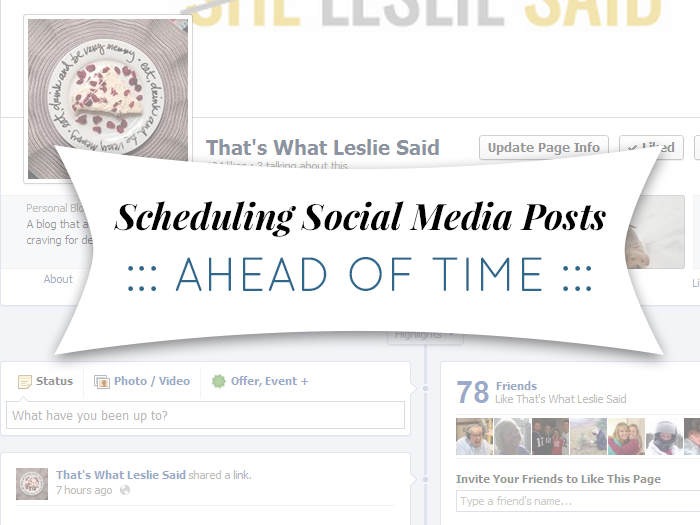planning ahead scheduling social media posts ahead of time