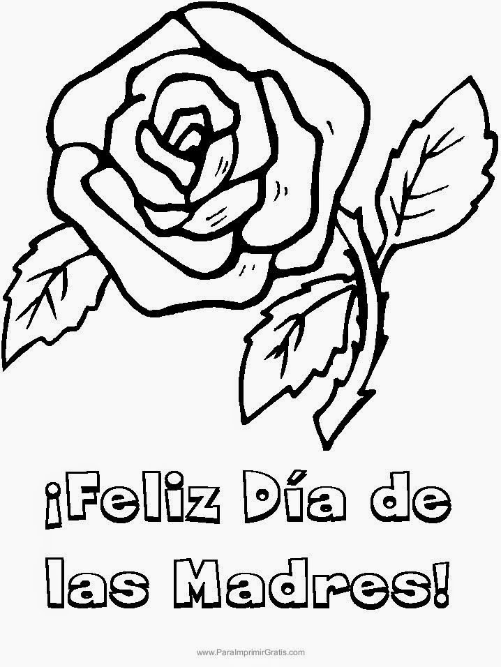 Mother's Day Flowers Coloring Pages