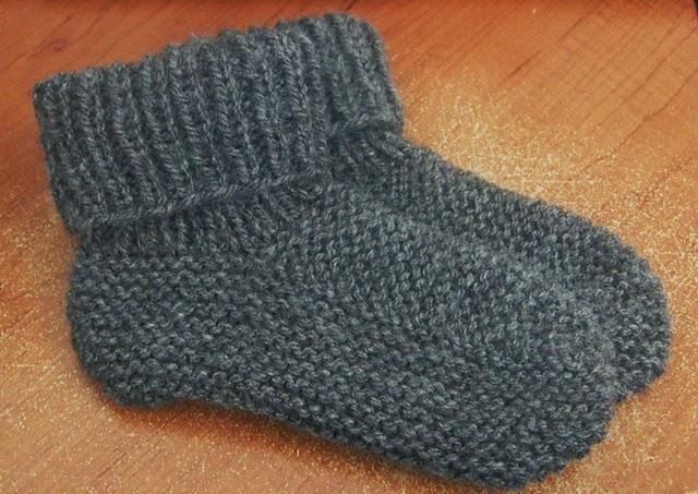 chausson tricote en laine