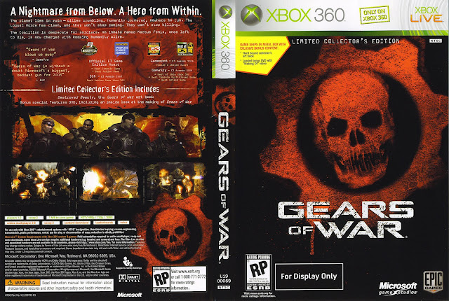 Capa Gears Of War Xbox 360