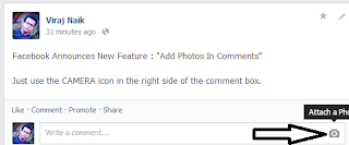 Add Photos in Facebook Comment