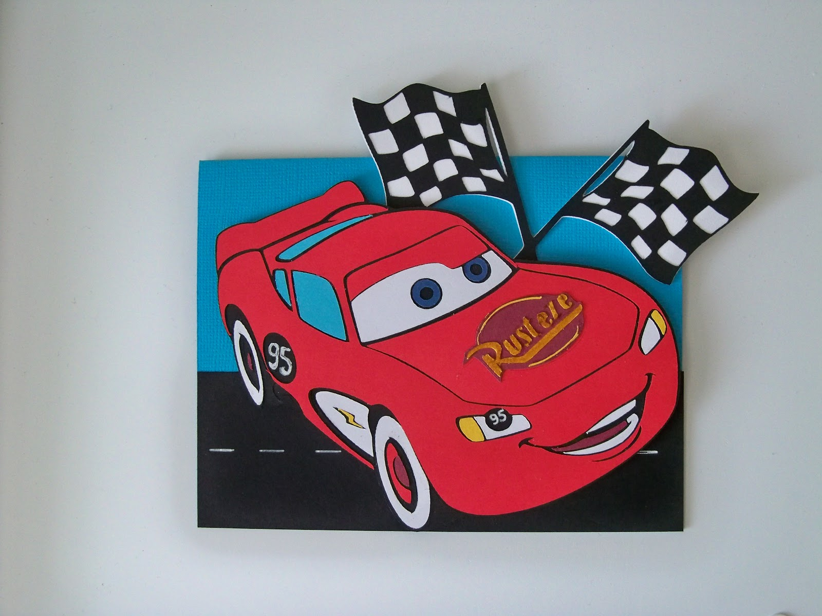 Addicted to the Cricut Cars Birthday Card – Lightning Mcqueen Birthday Card