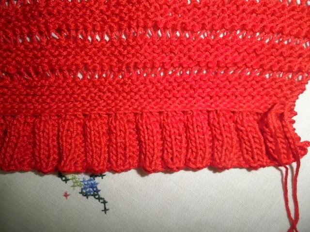 Artes anas chaquetas roja con volante para aitana - Como hacer punto de ochos a dos agujas ...