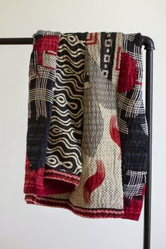 handmade quilted throw; eco-friendly; fair trade