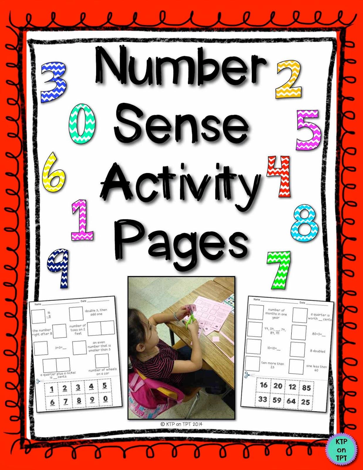 http://www.teacherspayteachers.com/Product/Number-Sense-Activity-Pages-1231823