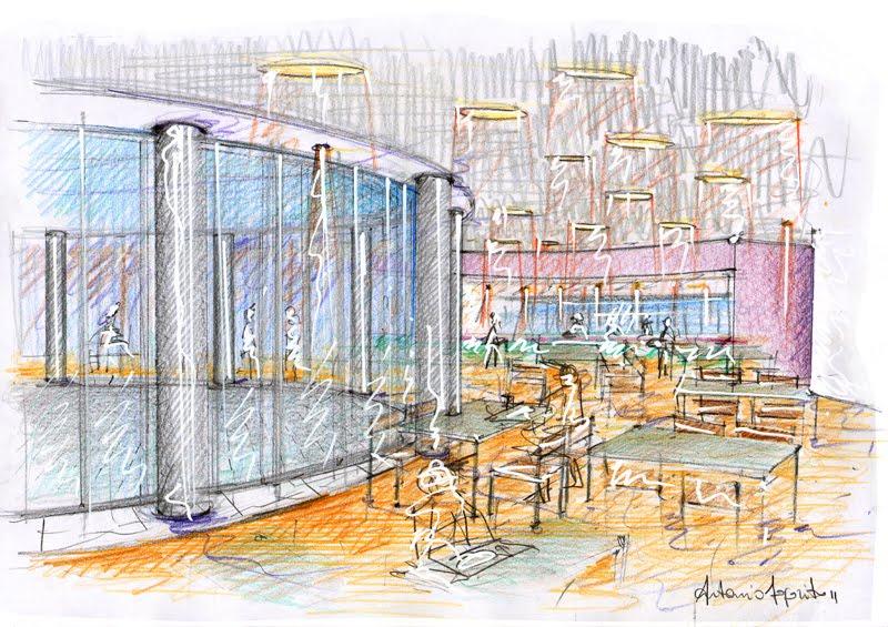Vent 39 anni di disegni dell 39 arch antonio saporito schizzo for Disegni di case in prospettiva