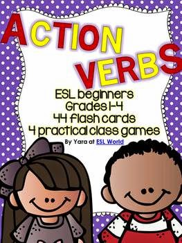 http://www.teacherspayteachers.com/Product/Action-Verbs-44-Flashcards-Games-ESL-Adults-Grades-4-6-905967