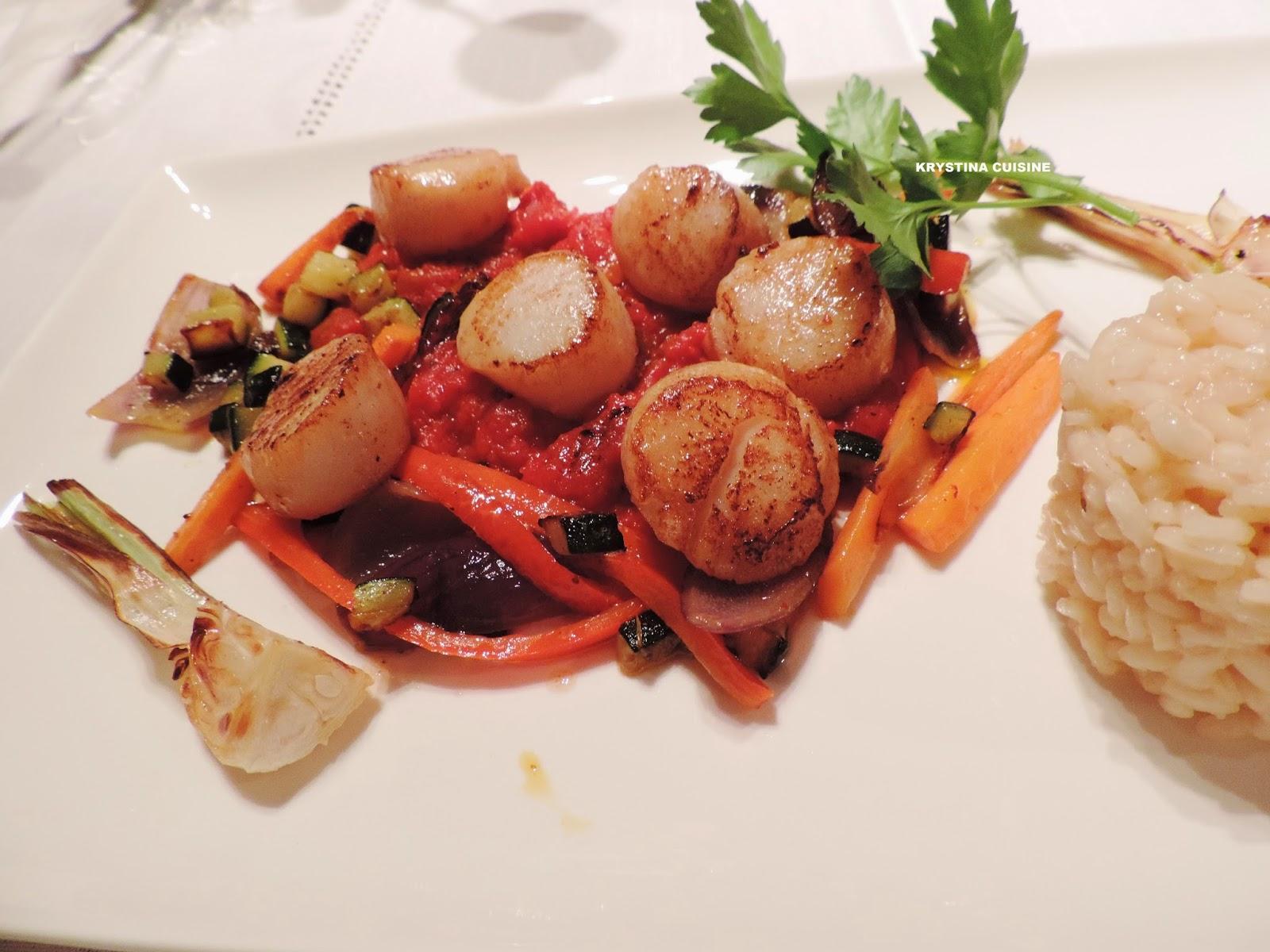 Krystina cuisine noix de saint jacques la proven ale for Allez cuisine translation
