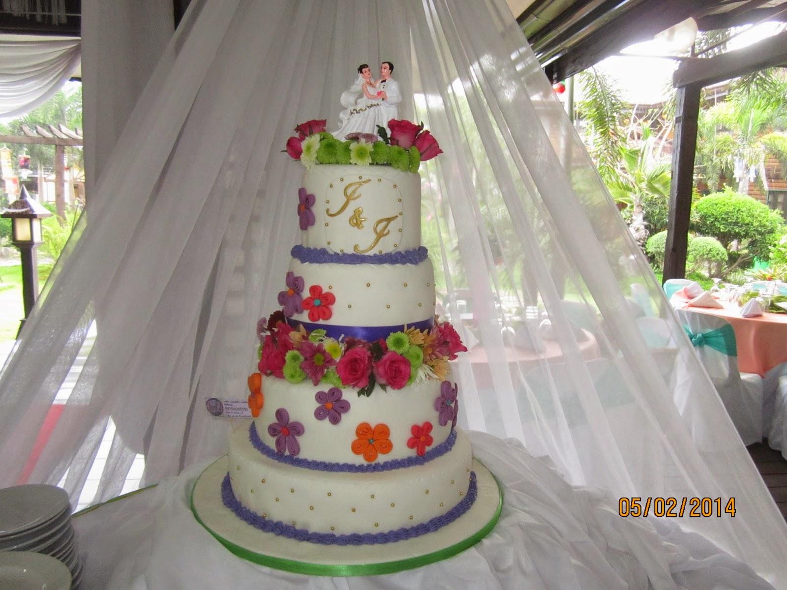 summer wedding cakes 2014