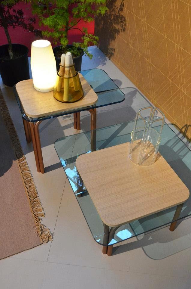 Sofa, Beistelltisch und Sessel von Moroso auf der Mailänder Möbelmesse Salone del Mobile 2014