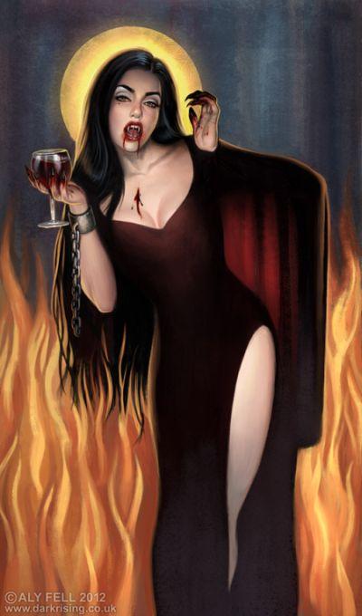 aly fell ilustrações mulheres sensuais fantasia sombria Vampira