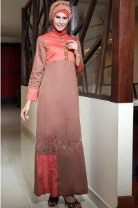 Azka Sarimbit V2 Gamis GS55 - Coklat (Toko Jilbab dan Busana Muslimah Terbaru)