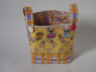 cesta de tecido páscoa
