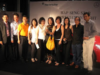 A group photo of members of Hap Seng Star