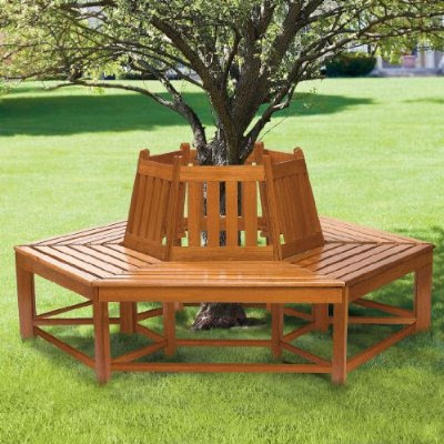 bench furniture ideas bench that goes around a tree. Black Bedroom Furniture Sets. Home Design Ideas