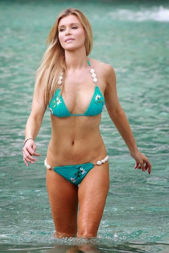 The 34-year-old looked trim and healthy in a blue bikini as she enjoying sometime off in Fort Lauderdale sunshine at the Seminole Hard Rock Hotel and Casino on Sunday, August 31, 2014.