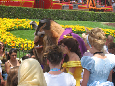 Belle Beast Disneyland characters walk around meet greet