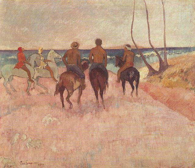 Senza dedica cavalieri sulla spiaggia di paul gauguin for Disegni della casa sulla spiaggia