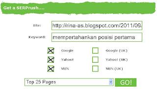 Cara Mengetahui posisi blog di SERP Yahoo Bing Google | Checker Tool